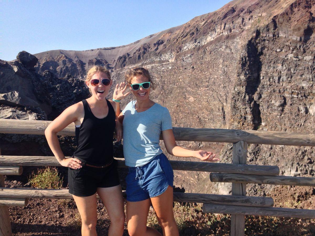 Tess and Syd on Vesuvius